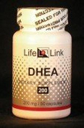 LifeLink's DHEA Micronized - 200mg (MonoDEA) dehydroepiandrosterone 50 Gelatin Capsules Micronized to Support, Healthy Aging, Immunity System, Brain, Bones, Metabolism Hormone Levels and Lean Body Mass for Men and Women