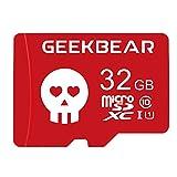 Tarjeta microSD de 32 GB 64 GB 128 GB con adaptador, tarjeta de memoria SDHC TF de clase 10 para GoPro, cámara, reproducción de vídeo HD (32 GB)