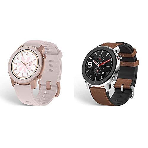 Amazfit GTR Smartwatch, Classic Design, 24/7 Heart Rate Monitor, Cherry Blossom Pink & GTR...