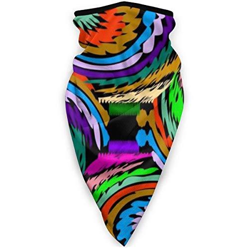 Leichte weiche Anti-Staub-Sturmhaube, buntes dekoratives abstraktes Vektormuster-Röhrengesichtstuch Bandana, niedlicher nahtloser Hals-Buff für Farmreiten