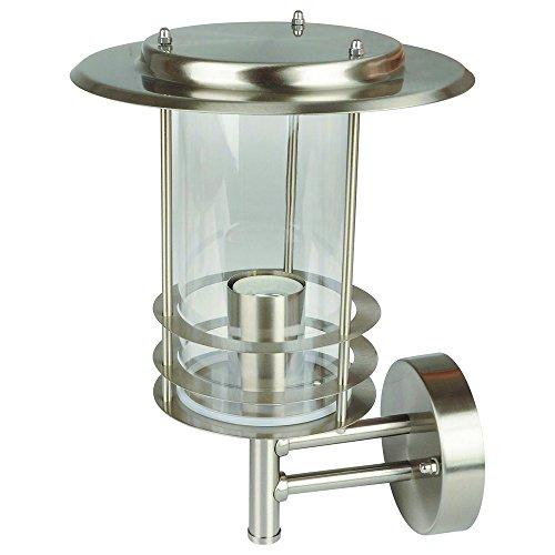 Grafner Edelstahl Wandlampe E27 IP44 Wand Außenleuchte, für außen und innen Wandleuchte Lampe Außen Hoflampe