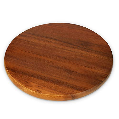 """AIDEA Lazy Susan,Acacia Wooden Lasy Susan Turntable Organizer for Kitchen Pantry Cabinet 14"""""""