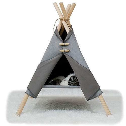 Teepee - Letto per gatti con cuscino, lussuose tende per gatti e case per animali domestici con cuscino
