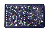 Amcomfy Küche Anti-Ermüdungsmatte   Antimüdigkeitsmatte   Anti Fatigue Kitchen Mat   Komfort Fuß Matte ergonomisch geformt für Küche   Verschiedene Motive (81 x 51 x 1,9 cm, Blue Christmas)