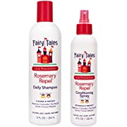 Fairy Tales Rosemary Repel Daily Kids Shampoo- Lice Shampoo for Kids (12 Fl Oz) & Conditioning Lice Spray (8 Fl Oz) Duo for Lice Prevention