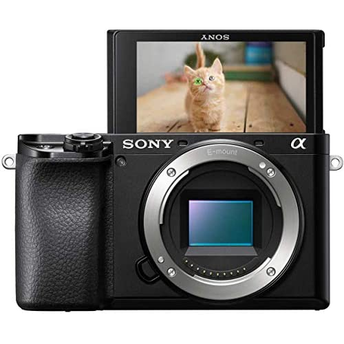 Sony Alpha 6100 - Fotocamera Digitale Mirrorless ad Obiettivi Intercambiabili, Sensore APS-C, Video 4K, Real Time Eye AF, Real Time Tracking, ILCE6100B, Nero