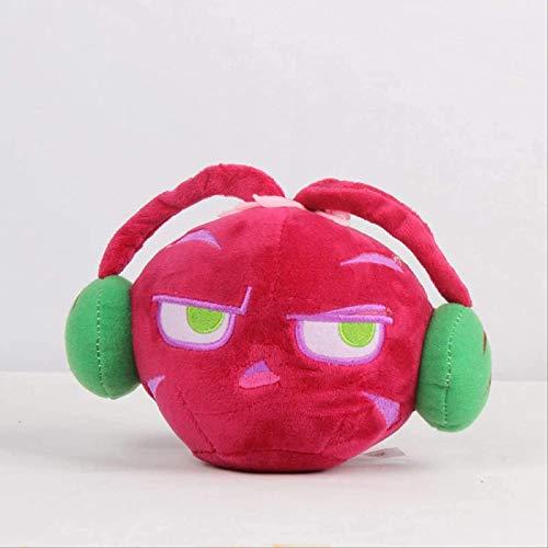 siyat Pflanzen vs Zombies PVZ-Pflanze rote magische Sound Sellerie Plüschtier 20cm weiche gefüllte Puppe für Kinder Kinder Geschenke Jikasifa
