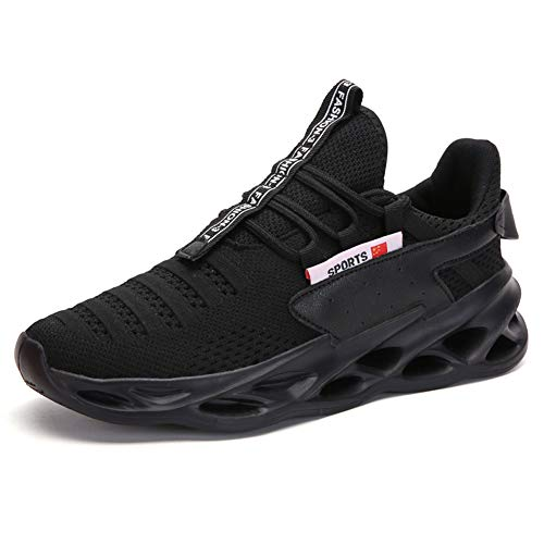 Mens Running Walking Tennis Shoes Youth Fashion Blade Sneakers Mesh Breathable Gym Athletic Shoes...