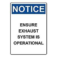 セーフティサイン屋外の壁の装飾は、排気システムを操作するOSHA警告