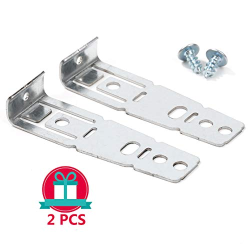 Huaesem 2 Pack WD01X21740 Dishwasher Countertop Mounting Bracket Compatible With Hotpoint, GE, General Electric, Replaces WD01X10598, PS1170086, sliver