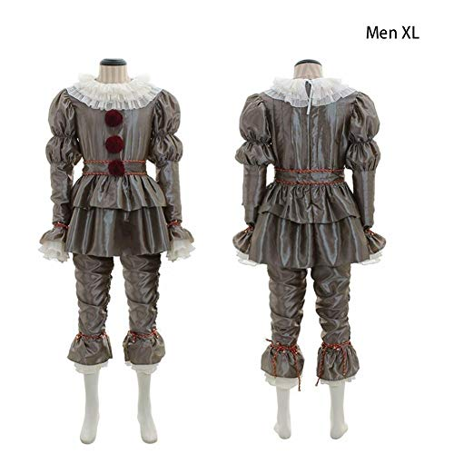 Tanzen Clown Cosplay Halloween Kostüm Deluxe Pennywise Outfit Rollenspiel Set Kostüm für religiöse Interessenme Genuss