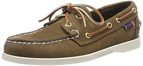 Sebago Docksides Portland Nubuk, Men's 7000GA0 Boat Shoes (Dk Brown 901) 5.5 UK