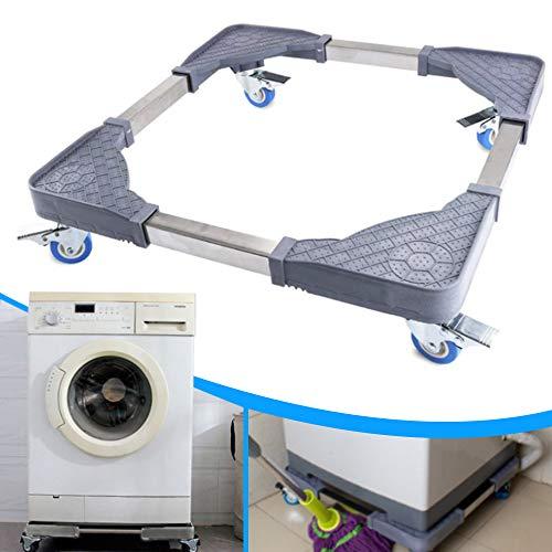 Washing Machine Stand with 4 Swivel Wheels Feet - Adjustable Washer Dryer Refrigerators Pedestal