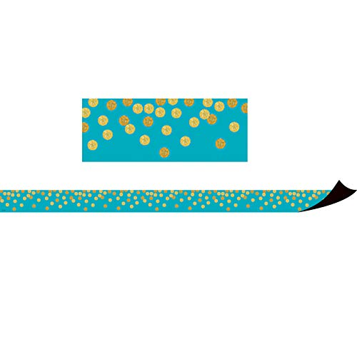 Teacher Created Resources Teal Confetti Magnetic Border (TCR77389)