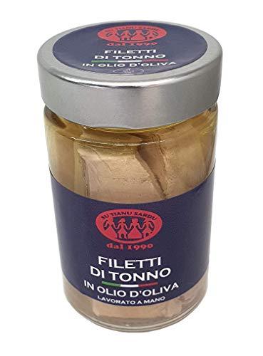 Filetti di Tonno Pinne Gialle Kosher in olio d'oliva 190g SU TIANU SARDU - Ottieni la spedizione GRATUITA con un acquisto di almeno 30€ di prodotti spediti da LE MAREVIGLIE