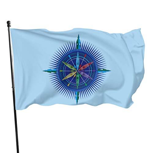 N/D Kajak-Kompass-Banner, Rose, 3 x 5 cm