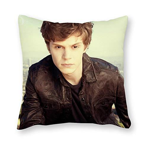 Evan Peters - Cuscino per cuscino Pop Art in tela per letto singolo, senza imbottitura, 40 x 40 cm (solo fodera)