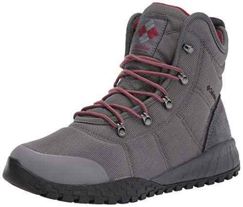 Columbia Men's Fairbanks Omni-Heat Snow Boot, Ti Grey Steel/RED Jasper, 11