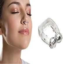 SHOPPOWORLD Silicone Magnetic Anti Snore Nose Clip Sleeping Aid Apnea Guard Night Device With Case