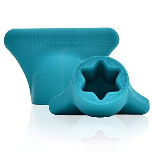 mix-slider - Teigblume für Thermomix, Teiglöser Zubehör für Vorwerk Küchenmaschine TM31 3D Gedruckt Made in Germany (Türkis)