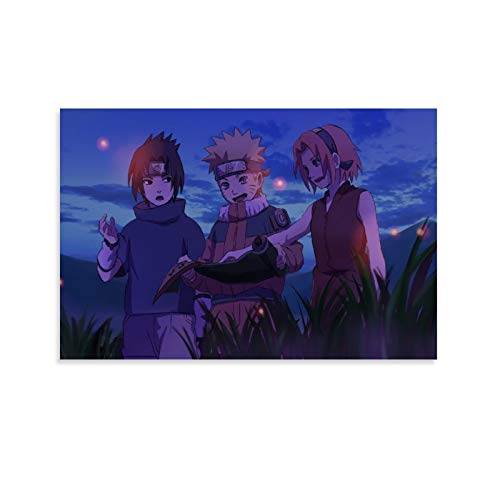 Anime Boy Anime Girl Naruto Canvas Art Poster and Wall Art Picture Print Modern Family Bedroom Decor Posters 08x12inch(20x30cm)