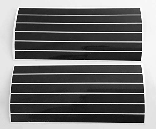 12 STK. 15 cm x 10 mm Aufkleber aus Reflexfolie 3M Scotchlite schwarz