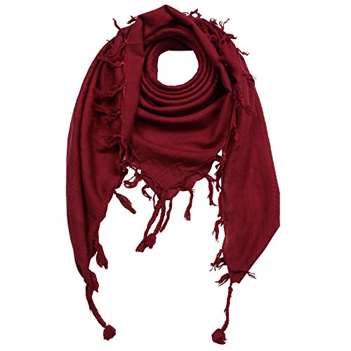 Superfreak Palituch - rot-bordeaux - rot-bordeaux - 100x100 cm - Pali Palästinenser Arafat Tuch - 100% Baumwolle