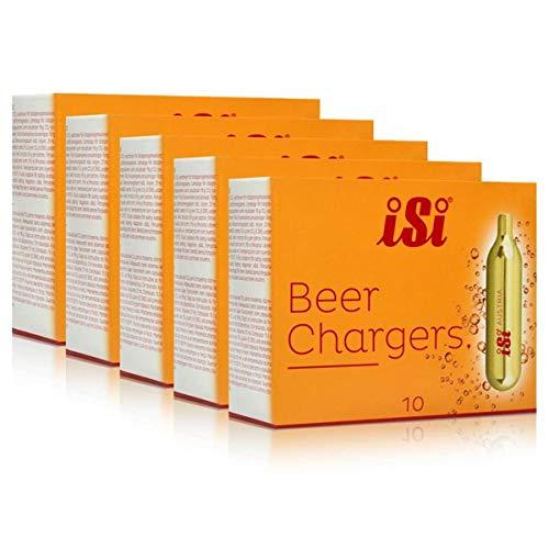 Preisvergleich Produktbild 5x iSi Einweg-Bierkapseln 10 Kapseln für Bierzapfgeräte