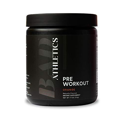 Bad Athletics Orange Pre-Workout for Women, Energy to Show up, Focus to Put in The Work, and Endurance to do More!