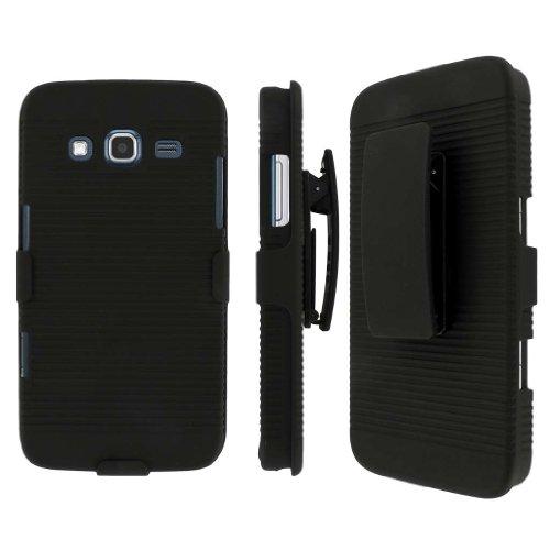 MPERO Collection 3in 1Tough Kickstand Tasche für Samsung Ativ S Neo i800–Schwarz
