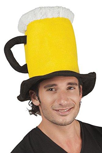 Boland 98996Sombrero en forma de jarra de cerveza, color amarillo