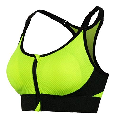 T-YIFUZX Sujetador Lactancia Materna Embarazada Tops de enfermería (tamaño Ropa Interior de Mujer Acolchada en el Frente Correa Ajustable Quick 80B Verde