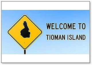 Welcome to Tioman Island Map on Road Sign Illustration Fridge Magnet