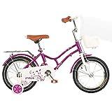 Axdwfd Infantiles Bicicletas Bicicleta For Niños 12/14/16/18 Pulgadas Ciclismo For Niñas, Adecuado For Niños De 2 A 13 Años (Size : 16in)