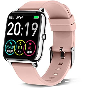 """Rinsmola 2021 Smart Watch for Android/iOS Phones 1.4"""" Full Touch Screen Fitness Tracker for Women Smartwatch with Heart Rate/Sleep Monitor IP67 Waterproof Fitness Watch Compatible iPhone Samsung"""