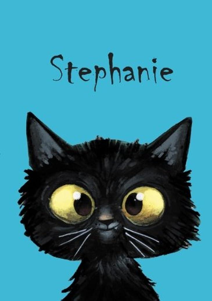 トライアスロン亜熱帯受け入れStephanie: Stephanie - Katzen - Malbuch / Notizbuch / Tagebuch: A5 - blanko