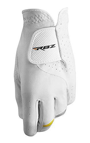 Taylormade Golf RBZ皮革手套,白色/灰色/黄色,左手磨损,中/大