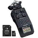 Zoom H6 Black - Grabadora de audio portátil (6 pistas de grabación, tarjeta de memoria de 32 GB)