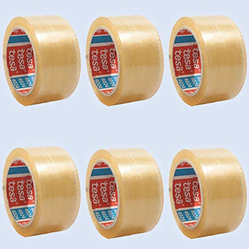 6er-Pack Tesa 4124 Packband tesapack Klebeband, 50mm x 66m, transparent