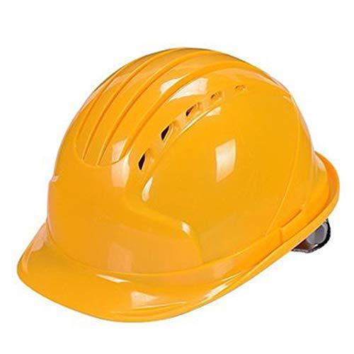 Cascos de seguridad FRP Casco Casco Construcción, Casco de seguridad Sombrilla Resistente a la lluvia Casco de ala ancha Seguro laboral Protección laboral Casco de protección laboral,Amarillo 🔥