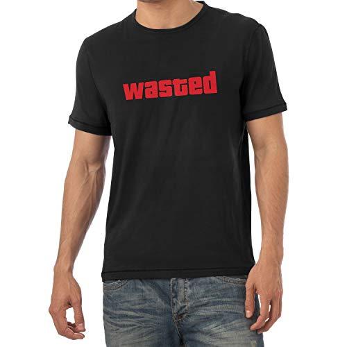 Texlab Wasted - Herren T-Shirt, Größe M, Schwarz