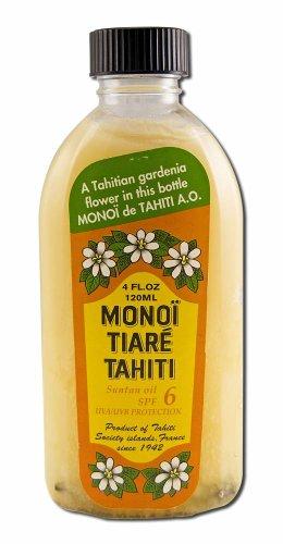 Coconut Oil Gardenia (Tiare) w/SPF6 Monoi Tiare Cosmetics 4 oz Oil
