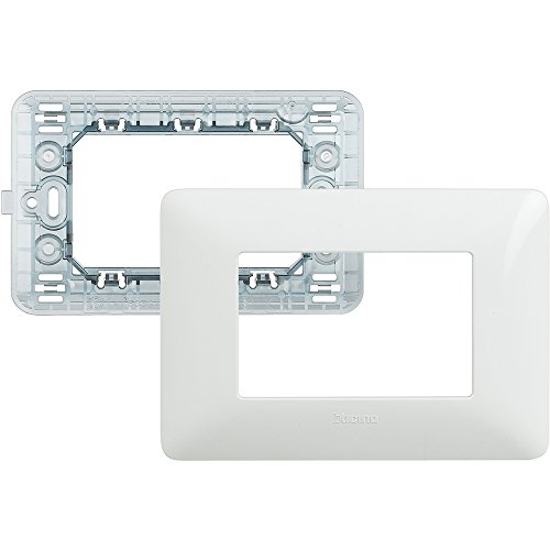 BTicino SAM4803BBN Kit-placca Supporto matix 3P Bianco