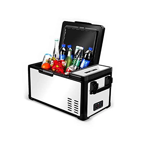 Nevera Portátil Eléctrica Refrigerador De Compresor Congelación + Refrigeración Pantalla De Visualización Digital Protección contra Pérdida De Batería 25L / 30L