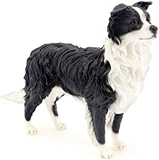 Leonardo Collection Border Collie Ornament Dog Figurine, Stone, Black by The Leonardo Collection