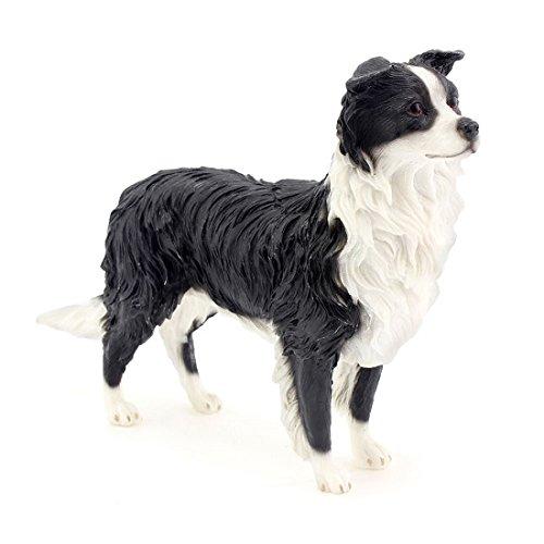 Leonardo Collection Border Collie Ornament Hund Figur, Stein, Schwarz