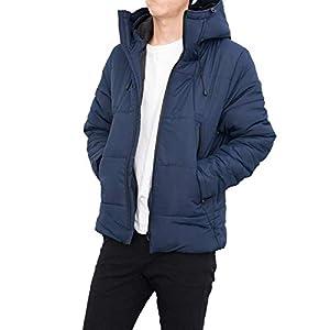 【極暖ダウン】 ダウンジャケット メンズ 『暖かさを極めたダウンジャケット』 ダウン 防寒 (ネイビー, M)