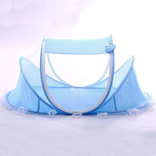 Fansheng - Cuna de bebé plegable portátil con mosquitera de poliéster y cama de viaje