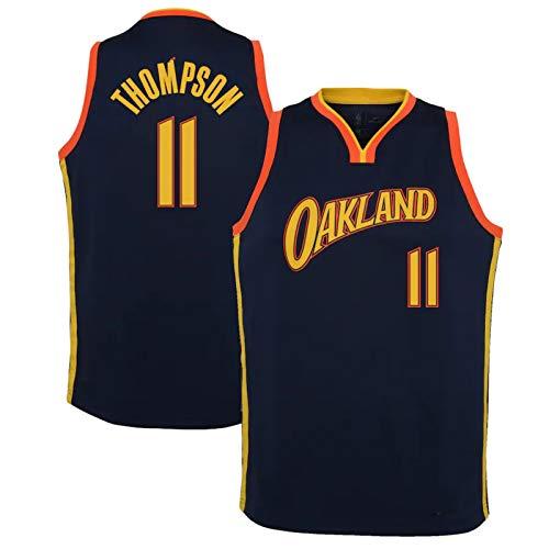 BPZ Jersey de la NBA de los Hombres Klay Thompson 11# Golden State Warriors Classic Jersey, cómodo/Ligero/Transpirable All-Star Unisex Uniforme,1,XL(180~185CM/85~95KG)