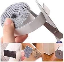 FSW-Products - Zelfklevende Vilt Grijs (Rol 1 Meter) - 2cm breed - Vilt - Antikras Vilt - Zelfklevend meubelvilt - Stoelpo...